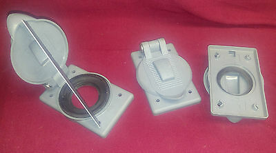 Hubbell HBL7425WOA Weather Proof Cover Plate TWISTLOCK 20-30 RECEPTACLE LOT OF 3