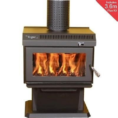 Wood Heater - Wood Fire - Australian Made - Includes Flue Kit