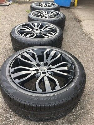 "Genuine Range Rover Sport 2015 21"" Gloss Black Alloys Wheels With 4 Tyres"