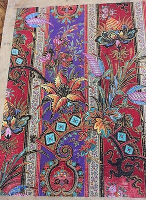 Rare Antique French (1860-70) Exotic Hand Painted Gouache Textile Design~~A