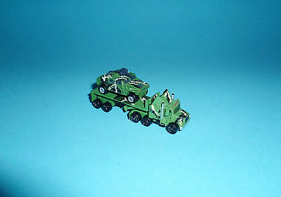 Micro Machines Military - US ARMY RACE TEAM lot - HUMVEE FLATBED TRUCK Galoob