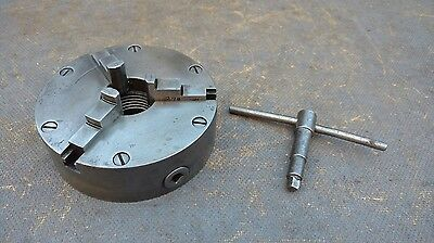 "Vintage Original Atlas 270 5"" 3 Jaw Lathe Chuck 1 1/2"" - 8 TPI with Key"