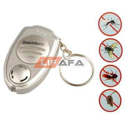 2x Ultrasonic Anti Mosquito Insect Pest Repellent Repeller Key Ring chain Keycha