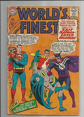 Worlds Finest  #155 Vg Very Good Ow/white Pages  Silver Age Dc Comics 1966
