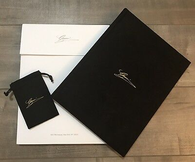 Gucci Hardcover Suede Cover Look Book *NEW With Gucci Envelope And Gucci Pouch