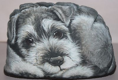 Schnauzer Pupperweight Puppy Dog Paperweight or Doorstop by Leslie Anderson
