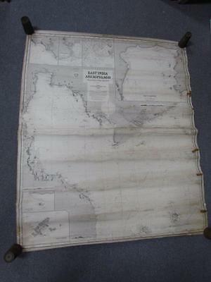 Antique 1878 East India Archipelago #3 Nautical Chart Map, Route To China, Imray