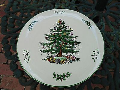 LARGE SPODE CHRISTMAS TREE CAKE SERVING PLATE 29cm LIKE NEW