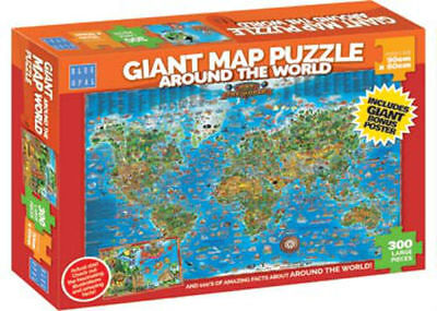 Blue Opal Giant Map Around The World 300 Piece Jigsaw Puzzle BL01881