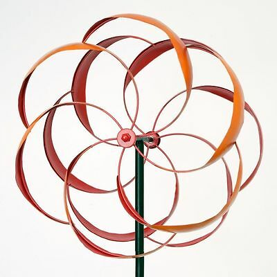 Bits and Pieces - Flower Wind Spinner - Magnificent 65 Inch Weather Resistant Me