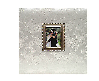 Wedding Photo Album Picture Gallery Memory Collection Book Floral Decor Metal
