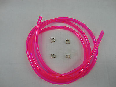 "Translucent Pink 1/4"" Fuel Line Kit Snowmobile Dirt Bike Quad Motorcycle"