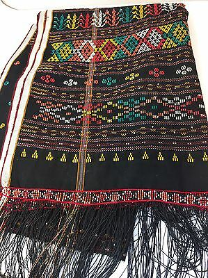 """Vintage Hand Woven ULOS from Batak tribe of North Sumatra, Indonesia 78"""" x 27"""""""