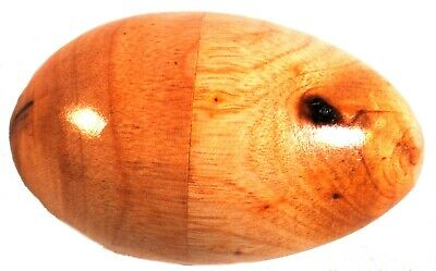 Fair Trade Large Size Wood Egg Shaker unpainted (16.5cm circumference)