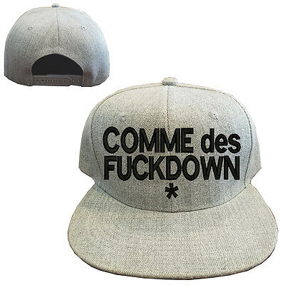 588dd5cf14f373 Heather gray wool blend COMME DES FUCKDOWN Vintage Snapback Cap Hat