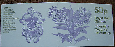 1985 Great Britain>Folded Stamp Booklet Orchids Fb27+Cyls