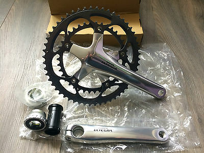 Shimano Ultegra FC-6600 Bicycle Bike  Crankset - 10 Speed Silver 53-39T 172.5mm