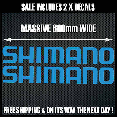 SHIMANO Stickers 2 x 600mm Wide for Boat Tinnie Camping Trailer Man Cave Fridge