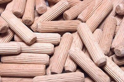 "Woodworking Dowel Pegs Straight Groove Birch Wood 1.4"" in. x 1.25"" in., 500/Pack"