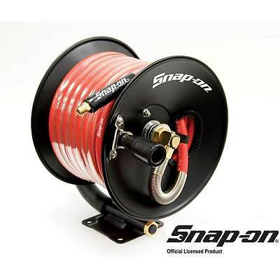 "3/8"" X 50' Snap-On Air Hose Reel Rubber Brass Wall Mount Flexible 870821 300 Psi"