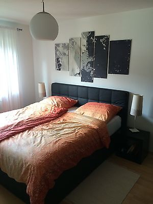 schlafzimmer komplett mit boxspringbett eur. Black Bedroom Furniture Sets. Home Design Ideas