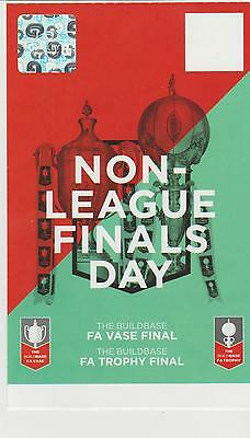 NON-LEAGUE FINALS DAY Match Ticket. 21-5-17 SOUTH SHEILDS, CLEETHORPES, YORK