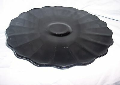 Black Amethyst Footed Cake Plate/Salver (Smith Glass?)
