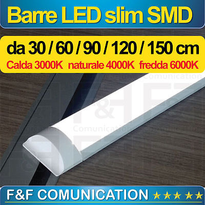 10 Pezzi Neon Barra Led Applique Soffitto  Smd 40W 120 Cm Calda Fredda Naturale
