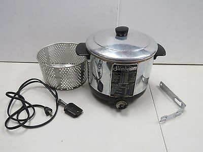Vintage Sunbeam Cooker Deep Fryer Model CF Stainless Steel Complete 1950's 1654H