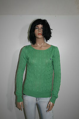 Ralph Lauren Maglione Cardigan Jumper Sweater Pullover Donna Tg.m Casual H774