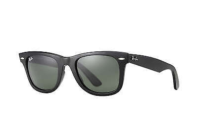 Ray-Ban RB2140 Original Wayfarer 901 Black Frame/Green Classic G-15 Lens 54mm