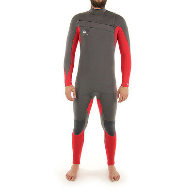 NEW Quiksilver - Ignite 4/3 Full CZ H Wetsuit/Grey/Red