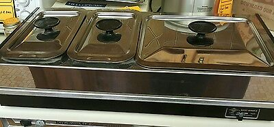 West Bend 3 Compartment Stainless Steel Buffet Server II