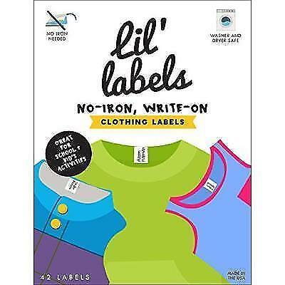 Clothing Labels, Write On Name, No Iron, Washer and Dryer Safe, Kids Label for