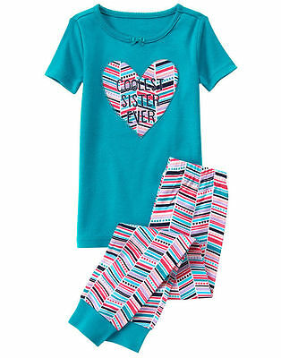 NWT Gymboree Girls Gymmies Coolest sister Ever pajama set 2T 8 10