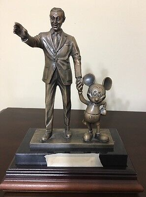 Rare Disney Partners in Excellence Award Statue Bronze-Walt and Mickey