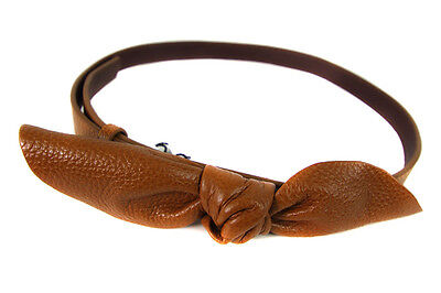 Almost Famous Womens Bow Tie Belt Tan Size S/M RRP45 LY26