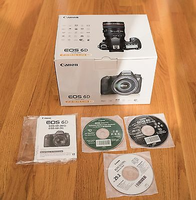 Canon EOS 6D Box - Owners Manual - Software CD's