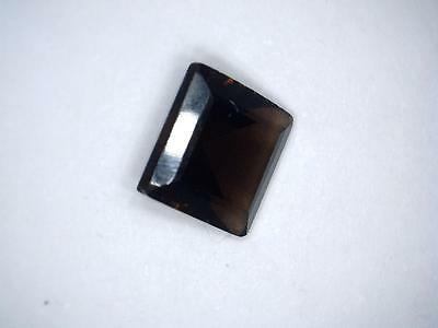 Smoky quartz square cut gem 1.48 carats