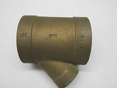 "NEW cast Brass 3"" WYE to 1 1/2"" Y DWV Fitting Sweat copper plumb"