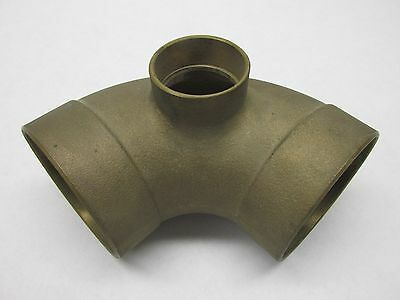 "NEW cast Brass 3"" x 3"" x 1 1/12"" DWV 90 Elbow reducer SWEAT copper plumb"