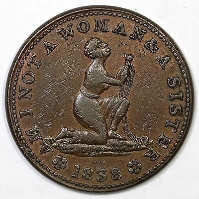1838 Low-54 R-2 Am I Not A Woman Hard Times Token