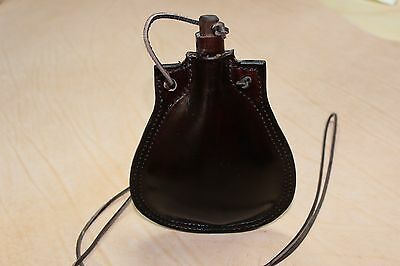 Reenactment New Custom Made Leather Canteen or Bottle recreated Mary Rose shape