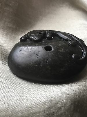 Chinese Black Jade Carving Of A Beast