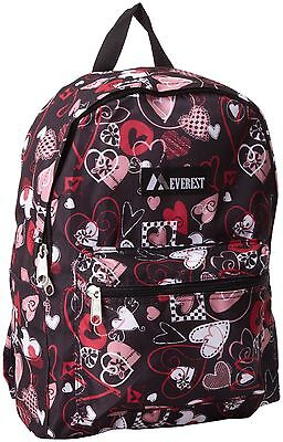Everest Luggage Multi Pattern Backpack Hearts Medium One Size
