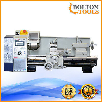 "Bolton Tools Lathes 8"" x 15"" Bench Top Precision Mini Metal Lathe BT210V"