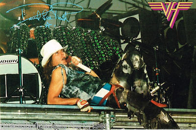 Van Halen 4x6 David Lee Roth Postcard Live On Stage 1984