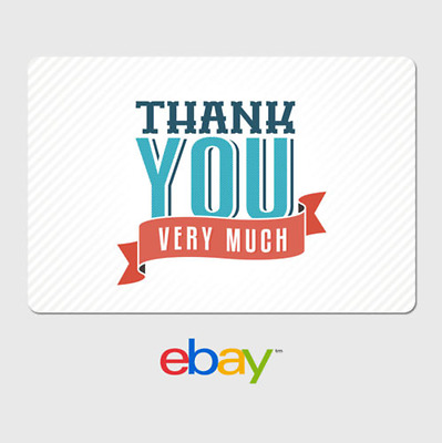 eBay Digital Gift Card - Thank You Very Much - Email Delivery