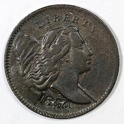 1794/1854 C-4a Doubled Edge Letters M-LDS Liberty Cap Half Cent Coin 1/2c
