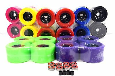 97mm 78aMultiple Color Longboard Flywheels +Free Bearing Free shipping in USA